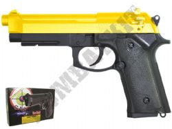 GG105 BB Gun Beretta M92 Replica Gas Airsoft Pistol 2 Tone Gold Black